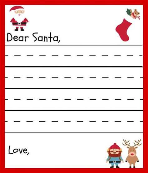 20 Free Printable Letters To Santa Templates Spaceships And Laser Beams Free Dear Santa Letter Template