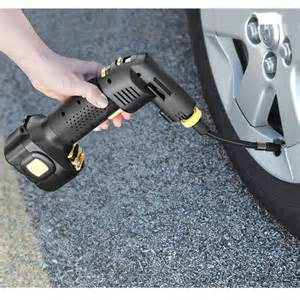 Car Tire Pressure Inflator The Only Automatic Cordless Tire Inflator Hammacher