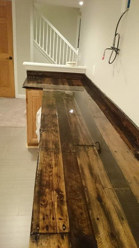 diy rustic wood countertops 30 rustic countertops that add coziness to your home digsdigs