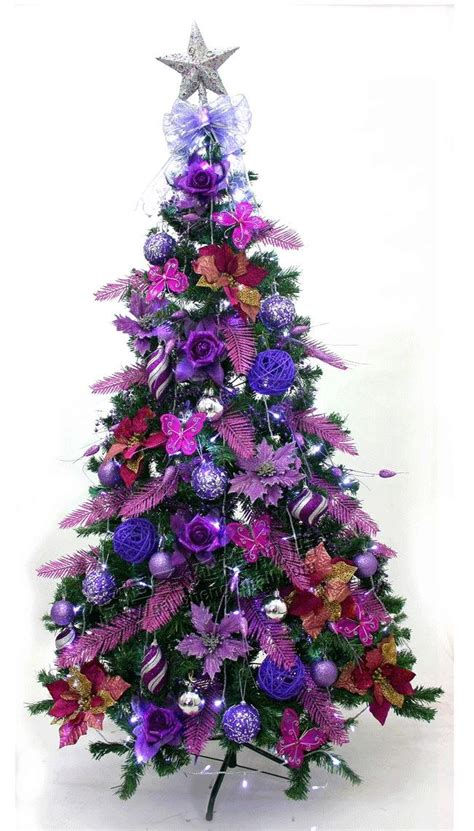 pictures of decorated purple christmas trees purple time for the holidays