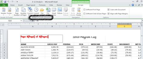 material design header exles how to create a custom header or footer in excel 2010