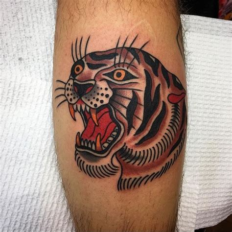 tiger cross tattoo best 25 traditional tiger ideas on