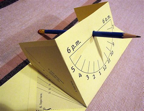 How To Make A Sundial Out Of Paper - 17 best images about sonnenuhr sun on