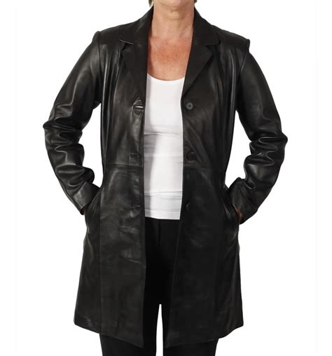 Jaket Coat Blazer Model Black Style Impor 3 Semi Fitted Style 3 4 Black Leather Jacket From