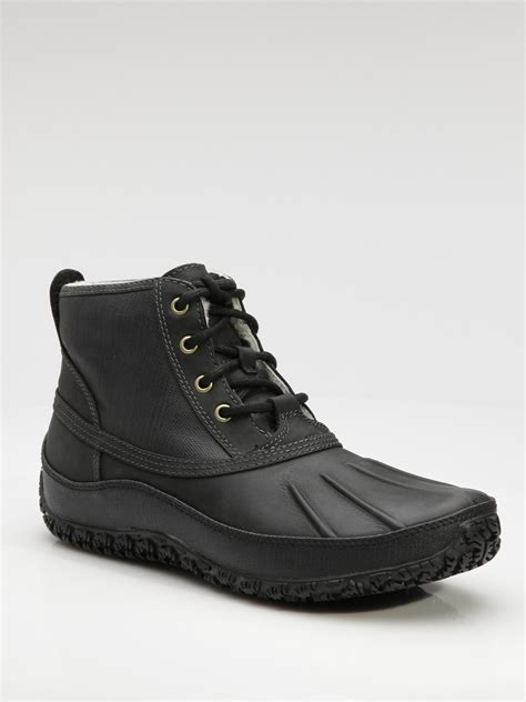 cole haan boots mens cole haan air vail winter boots in black for lyst
