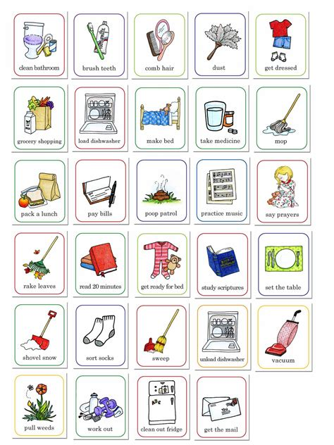 printable job card susan fitch design job chart