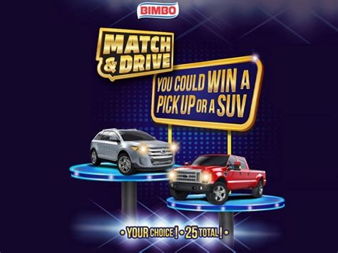 N Sweepstakes by Bimbo Match N Drive Instant Win Sweepstakesbible