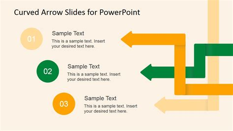 arrow powerpoint template curved arrow slides for powerpoint slidemodel