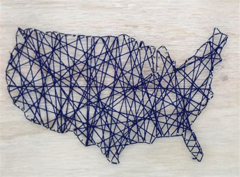 String Map - diy map string lovely etc