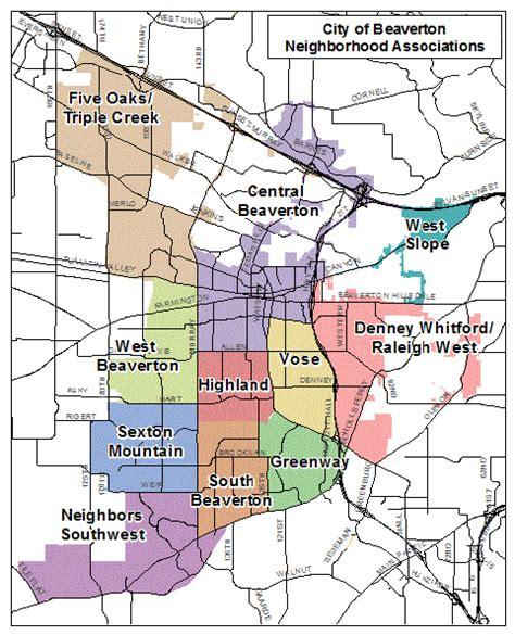 map of oregon beaverton beaverton area map with zipcode