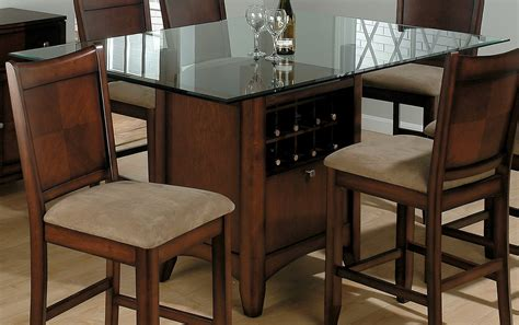 dining table with wine storage glass top square dining tables with wood base wine