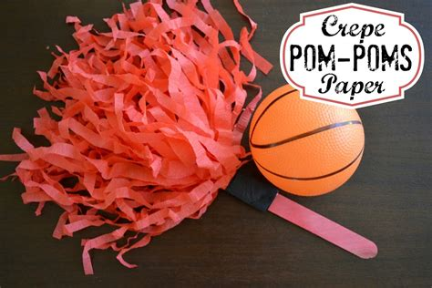 How To Make Cheerleading Pom Poms With Crepe Paper - diy crepe paper pom poms for day hello