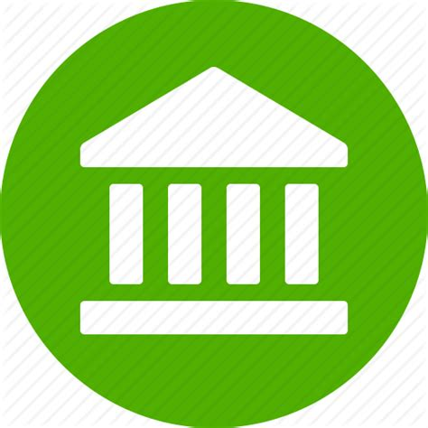 icon bank bank circle finance financial institution