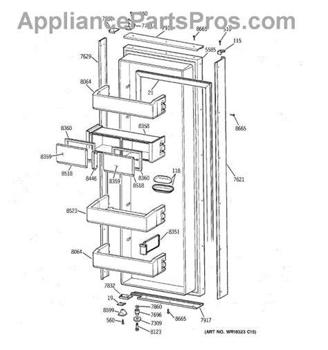 ge refrigerator diagram refrigerator parts ge monogram 48 refrigerator parts diagram