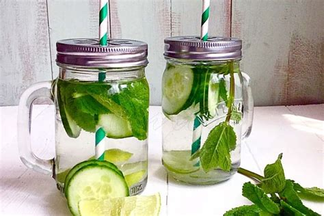 Cucumber And Mint Water Detox by Cucumber Mint Lime Detox Water Recipe On Food52