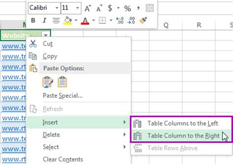 Add New Column To Table by 5 Ways To Insert New Columns In Excel Shortcut Insert