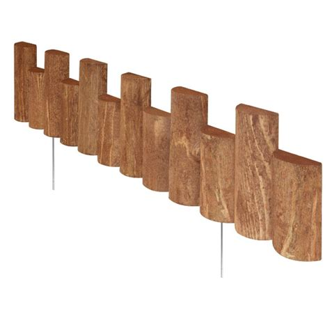 vigoro  ft wooden  log edging rc   home depot