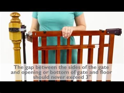 Summer Infant Dual Banister Gate by How To Install The Summer Infant Banister Stair Top Of Stairs Gate With Dual Installation Kit