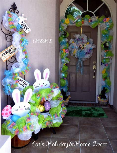 easter door decorations by cheryl foster easter door decor mesh decorating holidays p