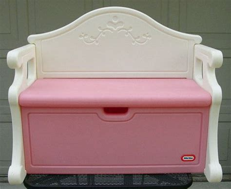 little tikes toy box bench vintage victorian little tikes tykes pink white toy