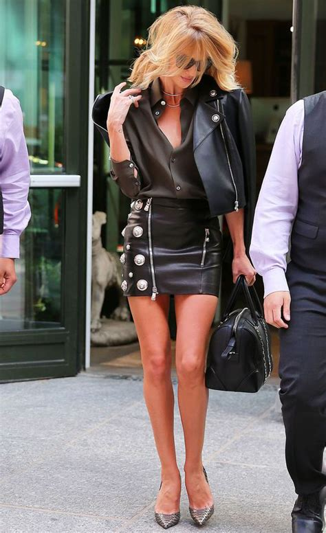 Kendrik Heels Khaki rosie huntington whiteley smoulders in tiny studded skirt
