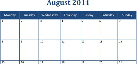 microsoft word 2015 monthly calendar template best photos of 2011 august calendar template printable