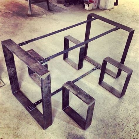 Rustic Table Legs Square Metal Industrial Frames Custom