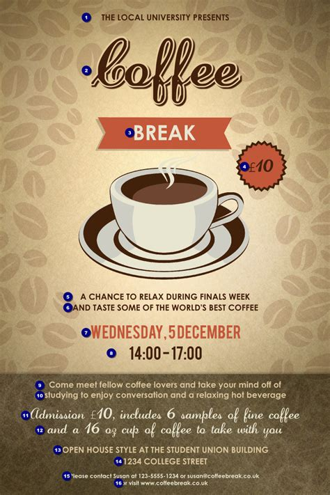 coffee poster ticket printing