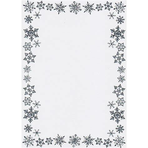 printable snowflake writing paper best photos of snowflake writing border paper free