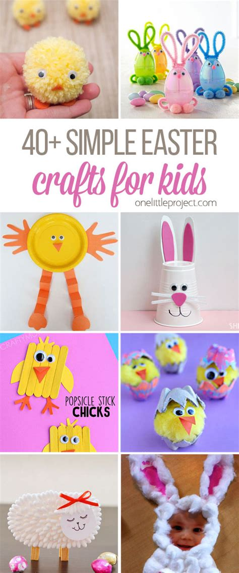 easy easter crafts for to make 40 simple easter crafts for one project