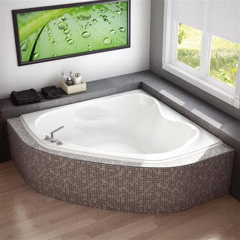 menards bathtubs maax 174 murmur 60 quot x 60 quot corner soaker bathtub at menards 174