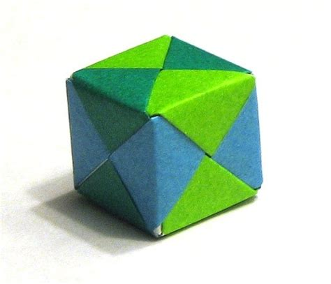 Folding Paper Cube - how to fold an origami cube