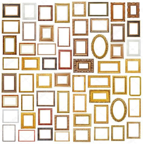 stock cornici collezione di cornici su bianco foto stock 169 goir 107493890
