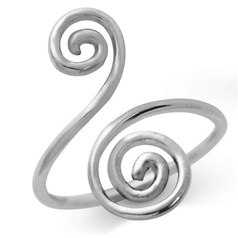 925 sterling silver swirl spiral ring sz 6