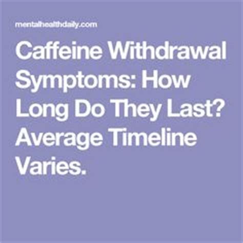 Caffeine Detox Symptoms How by 1000 Images About Health Facts Extended To Beyond Even