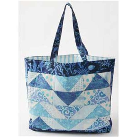 Patchwork Tote Bag Pattern Free - a sling of geese free flying geese quilted tote bag