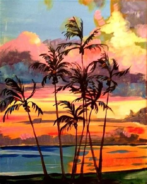 paint nite island pictures 148 best images about palm trees on