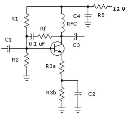 emitter degeneration resistor radio lifier design using emitter degeneration and feedback
