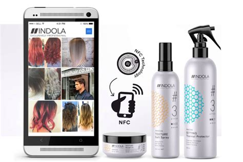 indola hair products usa nfc enabled packaging for beauty products inspires new looks