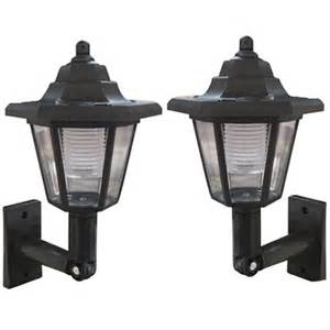 Wall Mount Solar Lights Outdoor New 2 X Black Wall Mount Outdoor Solar Power Lantern L Light Ebay
