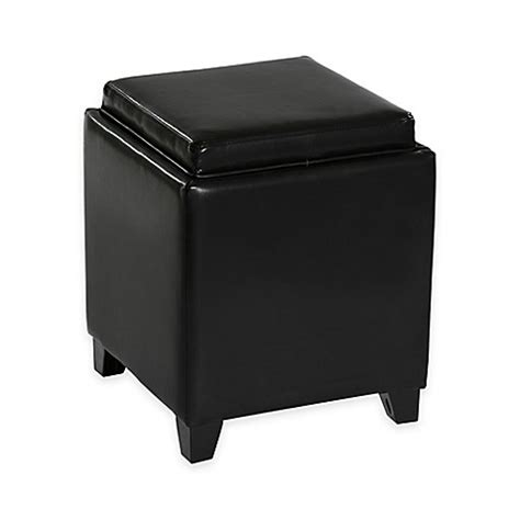 Black Tray For Ottoman Buy Dubai Contemporary Storage Ottoman With Tray In Black From Bed Bath Beyond