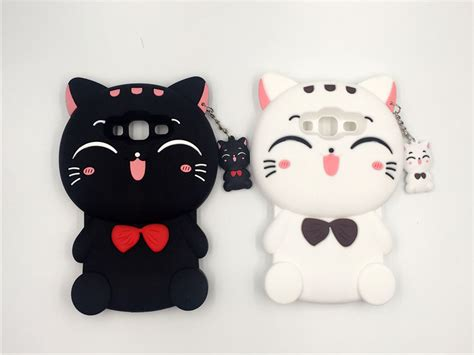 Softcase Silicon 3d Kawaii Bowtie Cat Samsung A720 A7 2017 buy wholesale soft gell from china soft gell wholesalers aliexpress