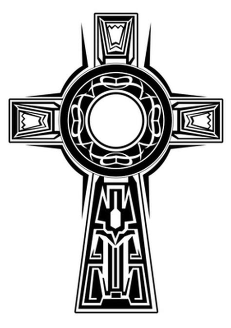 superb celtic cross design tattoo tattoos book