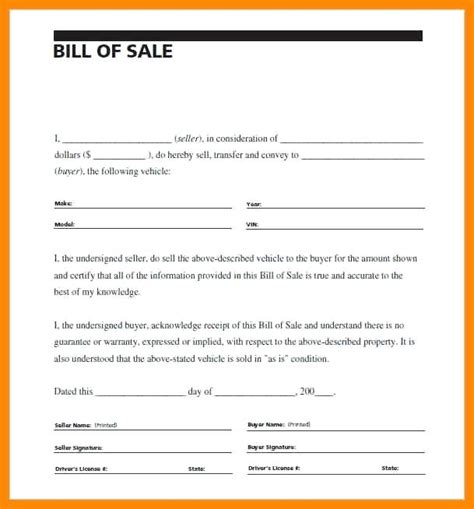 printable car bill of sale ontario receipt of sale for car 3 as is no warranty bill of sale