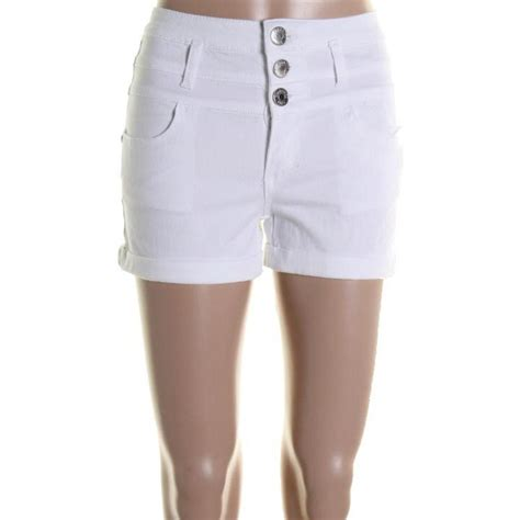 celebrity pink twill shorts celebrity pink jeans new white twill cuffed casual shorts