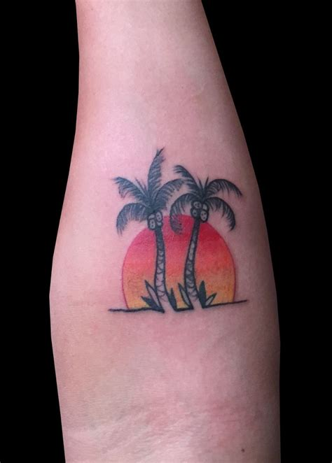 palm tree sunset tattoo designs palm tree sunset by adam considine tattoonow