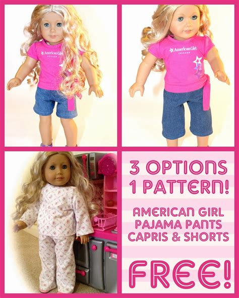jeans pattern for american girl doll free american girl pattern for jeans capris and shorts