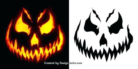 scary o lantern templates o lantern stencils printable cm carving patterns easy