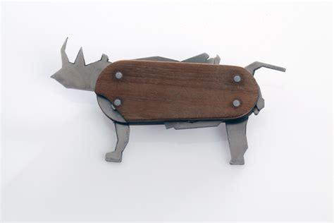 animal pocket knife swiss animal knife yanko design