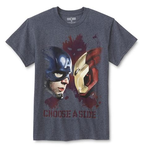 Kaosbajut Shirt Civil War marvel captain america civil war s graphic t shirt